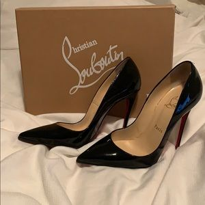Christian Louboutin so kate 120 patent black 37